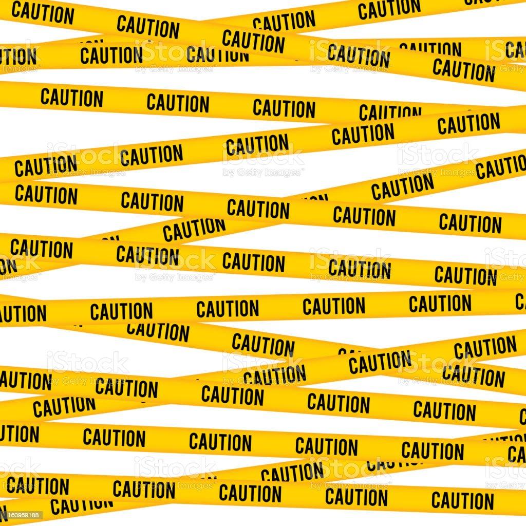 Caution Line vector art illustration