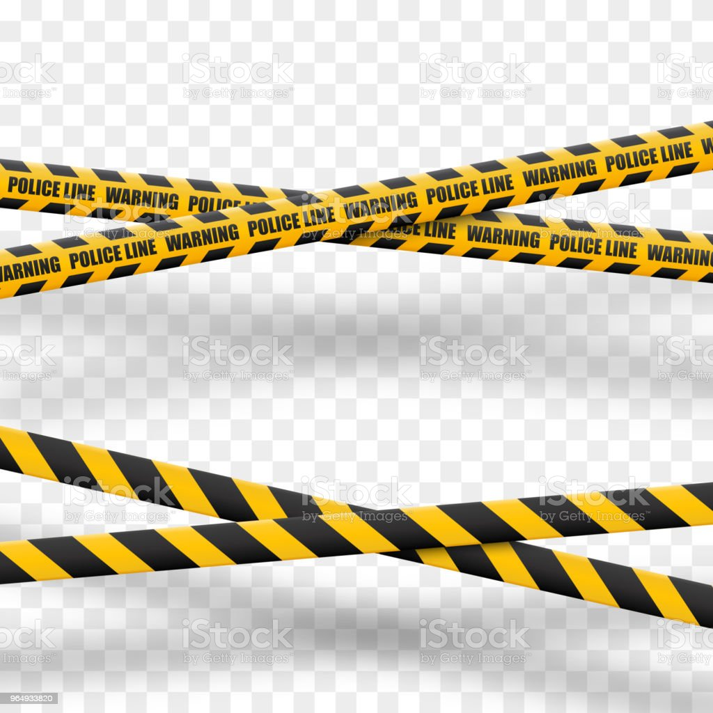 Caution lines isolated. Warning tapes. Danger signs. Vector illustration vector art illustration