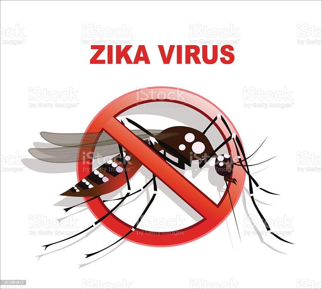 Caution of mosquito icon vector art illustration