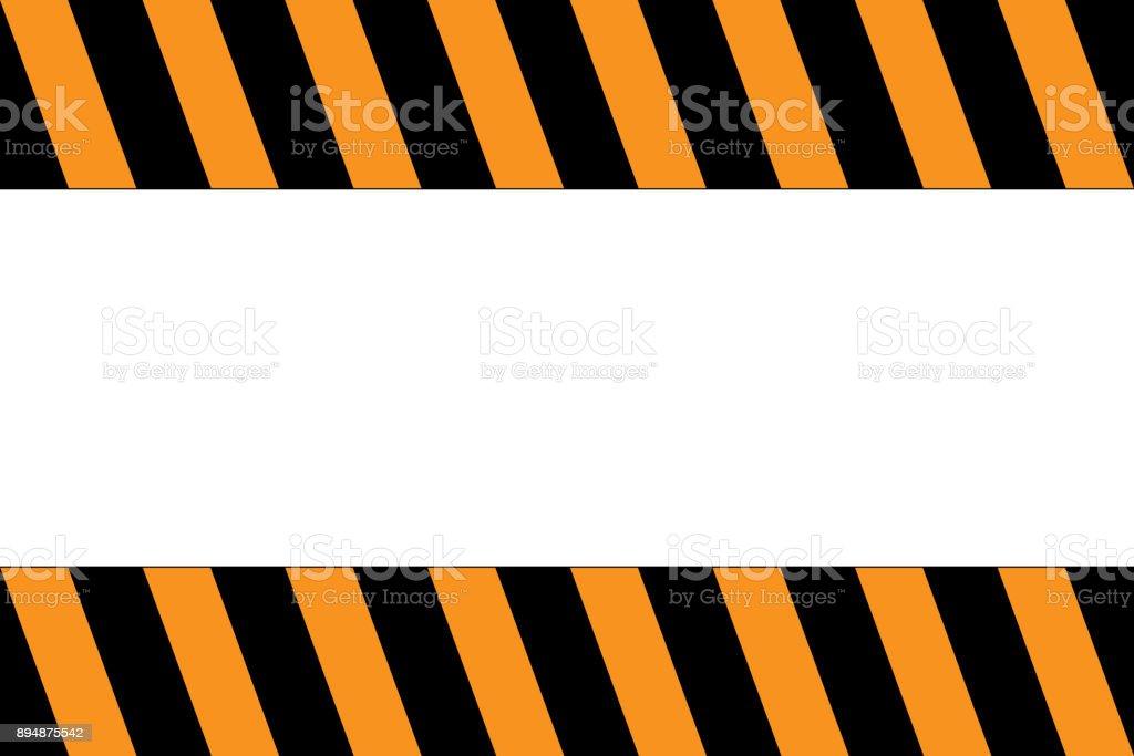 Banda Precaución Con Espacio De Copia Colores Naranja Y Negros ...
