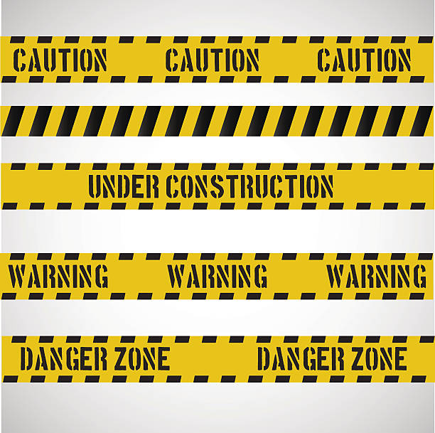 Caution stripes collection. vector art illustration