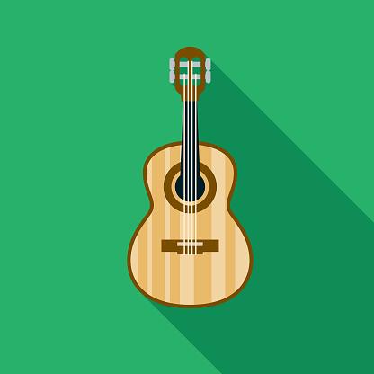 Cavaquinho Guitar Brazil Icon