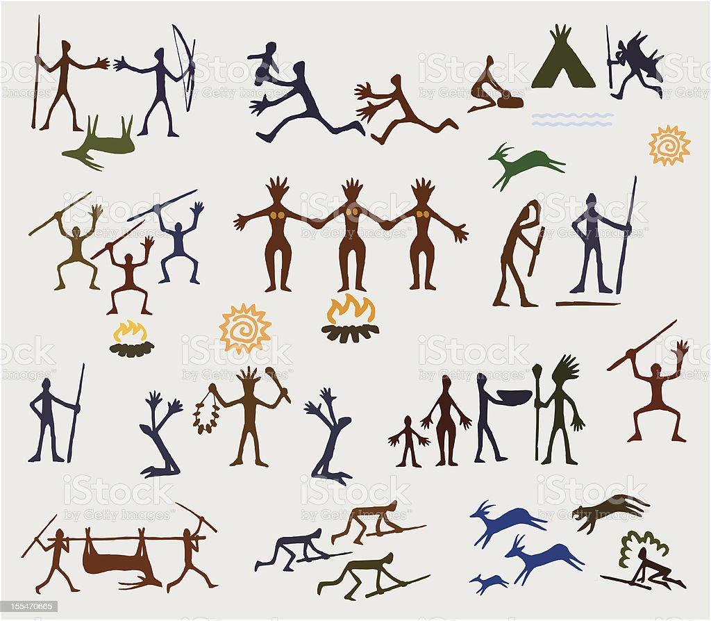 cave art royalty-free stock vector art