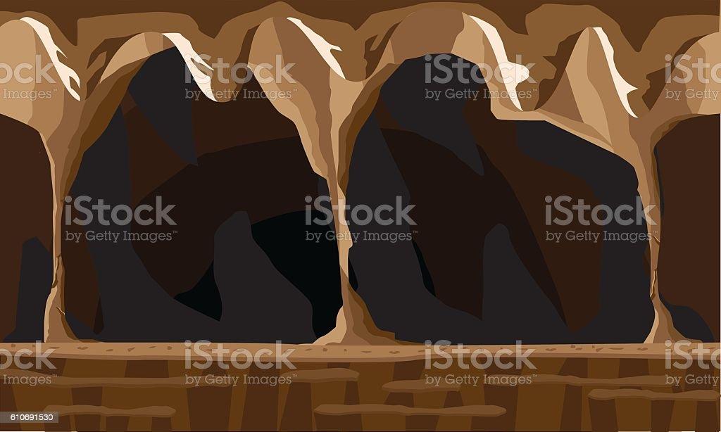 cave background vector art illustration
