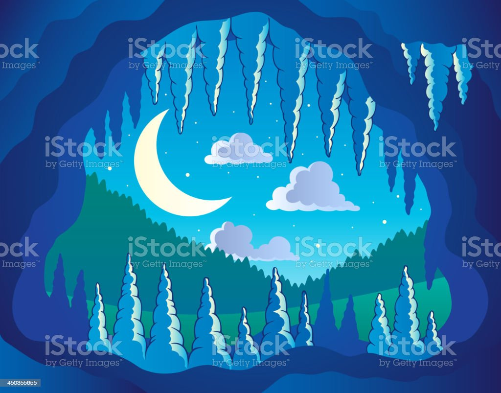 Cave theme image 3 vector art illustration
