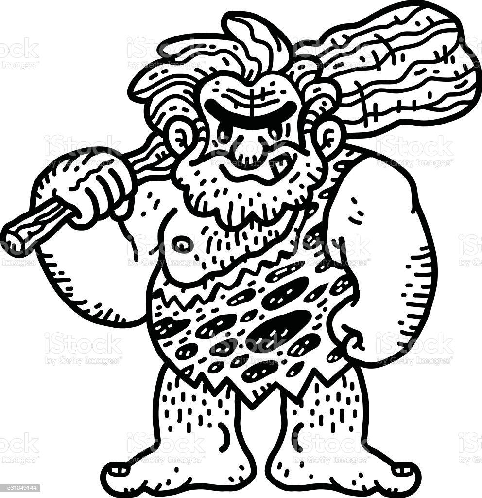 Vecteur De Dessin Anime Homme Prehistorique Cliparts Vectoriels Et