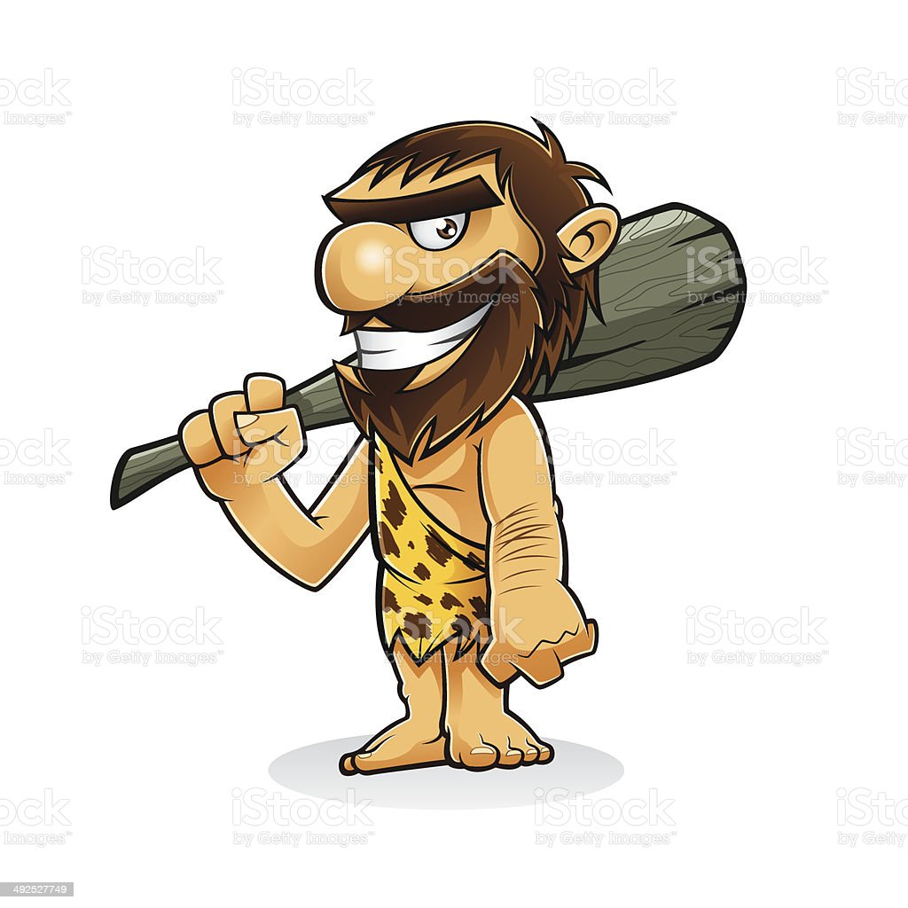 Caveman vector art illustration