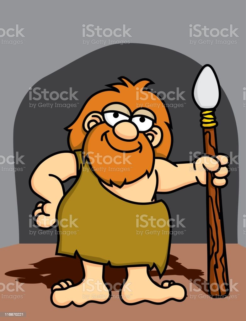 Caveman with Spear royalty-free caveman with spear stock vector art & more images of adult