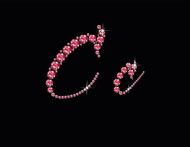 Cc Ruby Script Jeweled Font vector art illustration