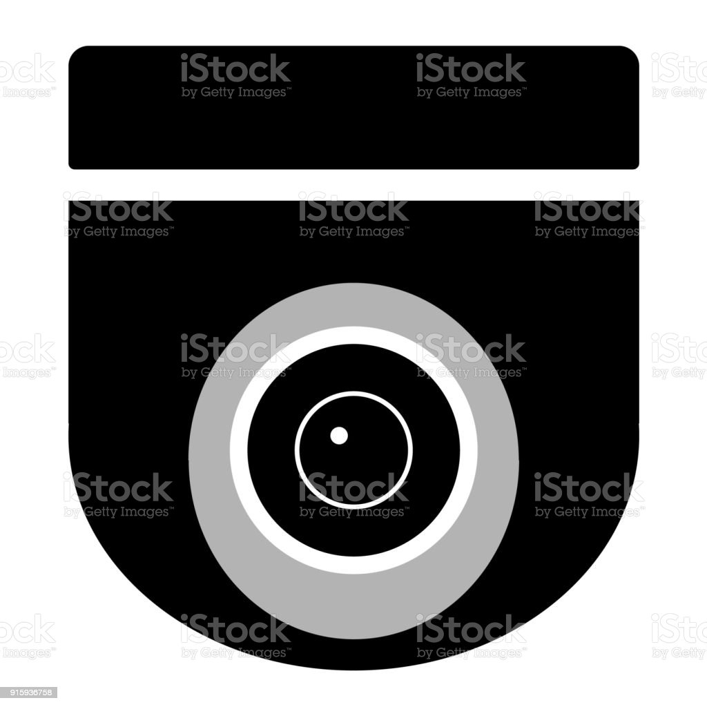 Cctv Camera On White Background Cctv Sign Security Camera Icon Video