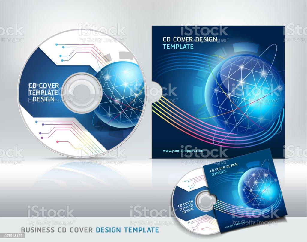 cd カバーのデザインテンプレート抽象的な背景 2015年のベクターアート