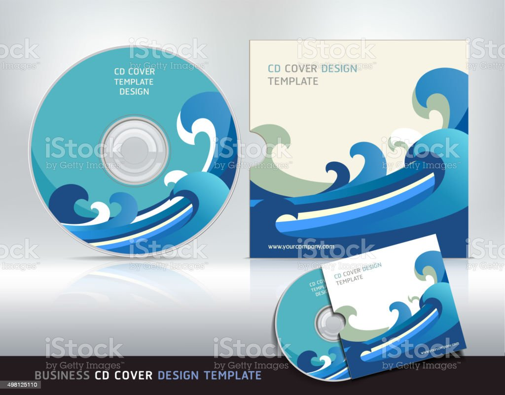 Cd cover design template. Abstract background. vector art illustration