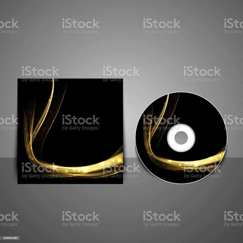 Cd cover design template. Abstract technology background. vector art illustration