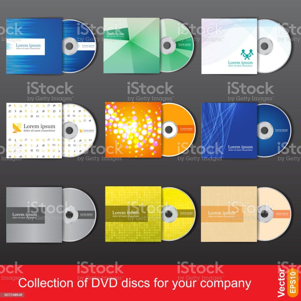 Cd or dvd design template for company presentation vector art illustration