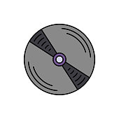 Cd, Recording, music icon. Element of color music studio equipment icon. Premium quality graphic design icon. Signs and symbols collection icon