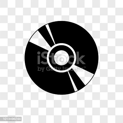 istock Cd vector icon on transparent background, Cd icon 1013496244