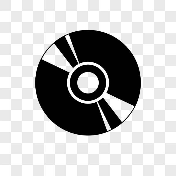ilustrações, clipart, desenhos animados e ícones de no ícone cd vetor no plano de fundo transparente, ícone de cd - cd