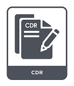 cdr icon vector on white background, cdr trendy filled icons from File type collection