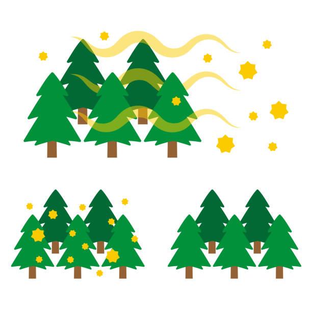 杉花粉イラスト - 花粉点のイラスト素材/クリップアート素材/マンガ素材/アイコン素材
