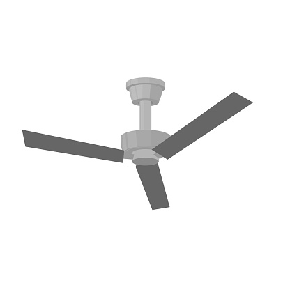 Ceiling fan. Cooling system