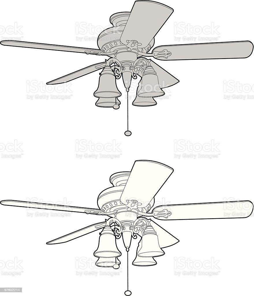 Ventilateur De Plafond Vecteurs libres de droits et plus d'images vectorielles de Chaleur
