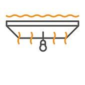 Ceiling insulation heat saving icon