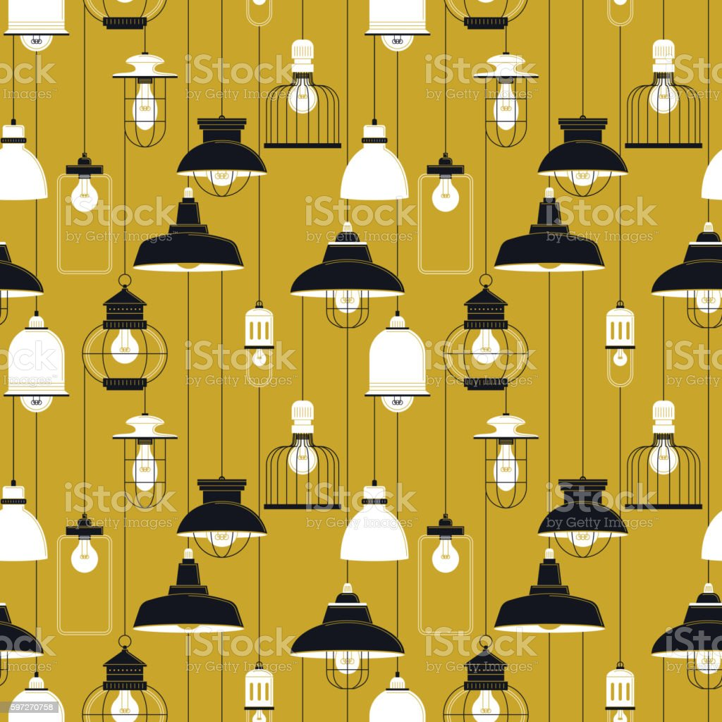 Ceiling lamp seamless pattern ceiling lamp seamless pattern – cliparts vectoriels et plus d'images de abstrait libre de droits