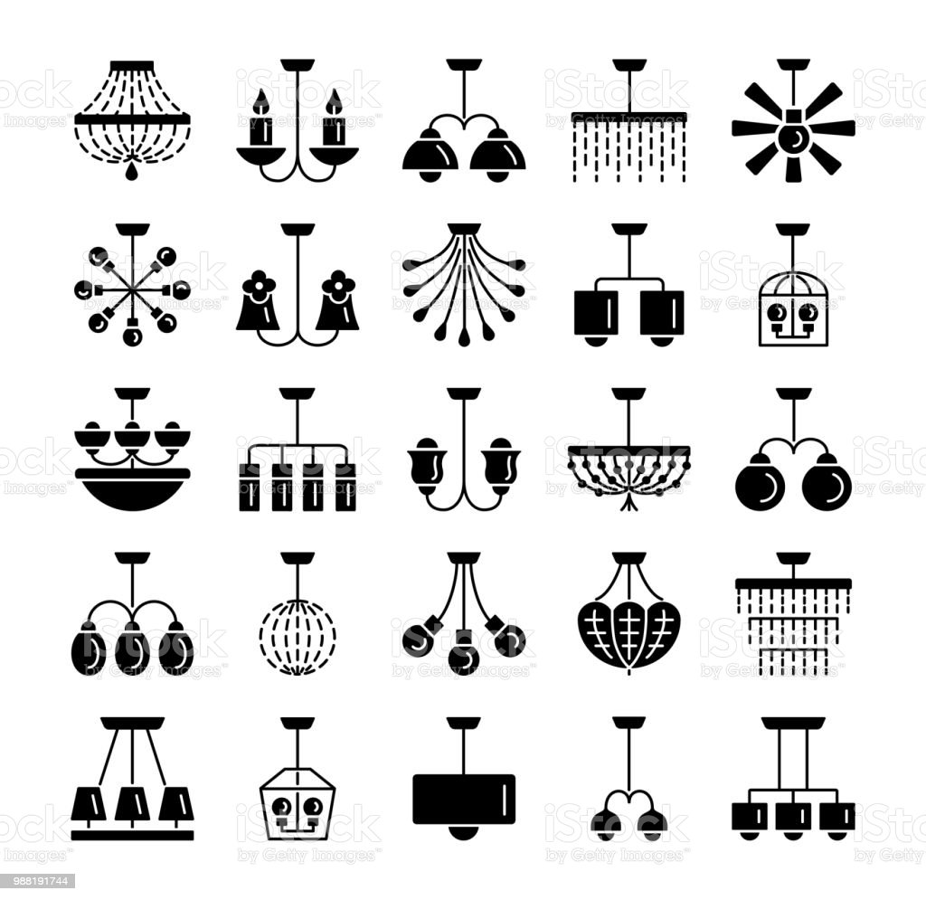 Ceiling lamps lights different types of chandeliers set of hanging different types of chandeliers set of hanging light fixtures for aloadofball Image collections