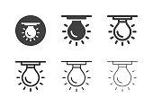 Ceiling Light Bulb Icons - Multi Series