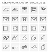 ceiling work icon