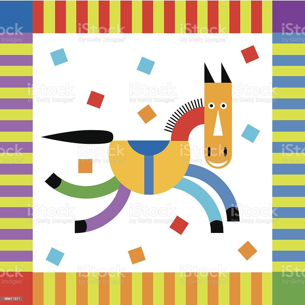 Celbrate hores with strips cofetti and smile - Royaltyfri Beskrivande färg vektorgrafik