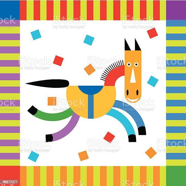 Celbrate Hores With Strips Cofetti And Smile-vektorgrafik och fler bilder på Beskrivande färg