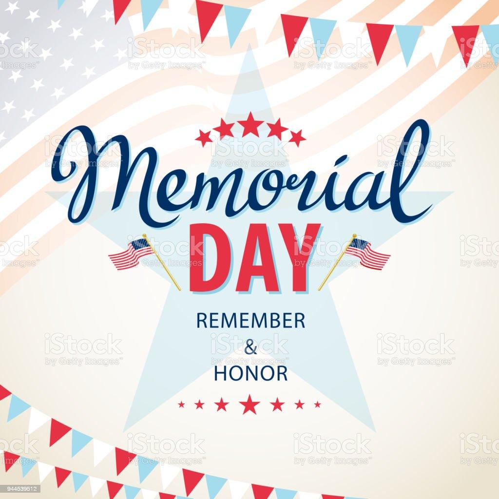 Celebrate American Memorial Day vector art illustration
