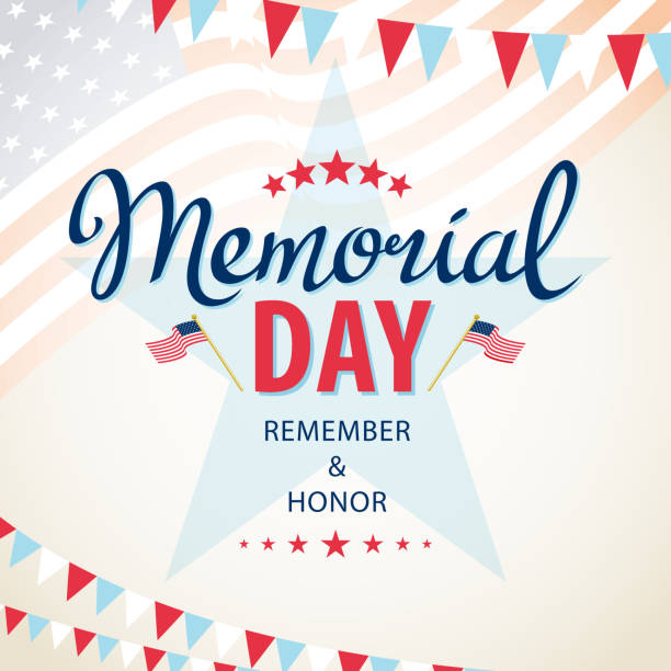 celebrate american memorial day - memorial day stock illustrations, clip art, cartoons, & icons
