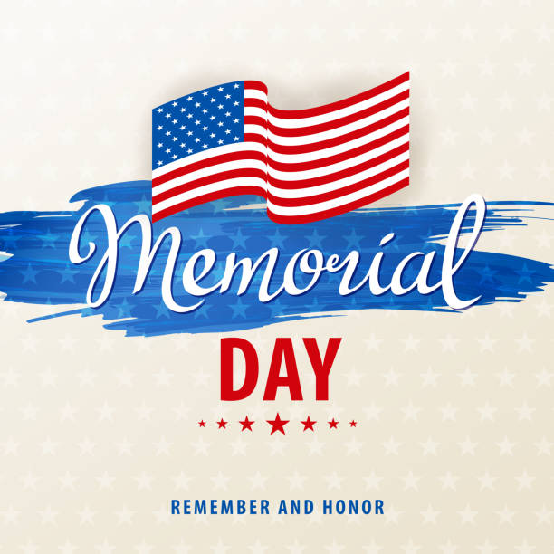 celebrate american memorial day - memorial day stock illustrations