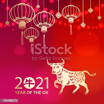 istock Celebrate Chinese New Year with Ox 1284688220