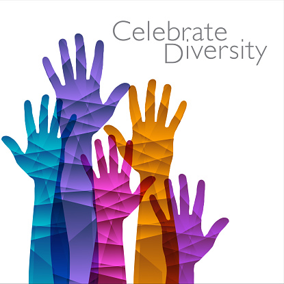 Celebrate Diversity is the theme of this graphic