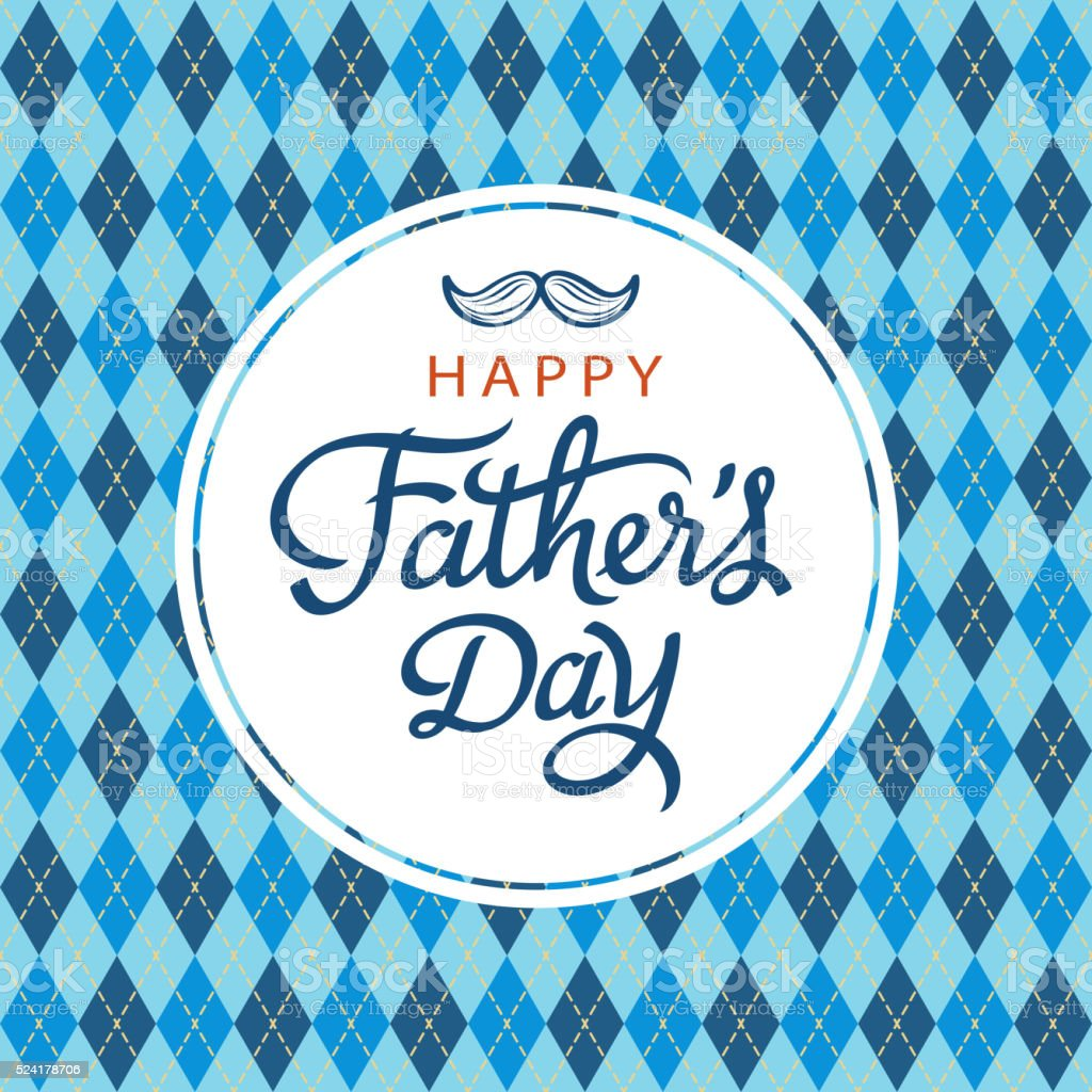 Celebrate Father's Day vector art illustration