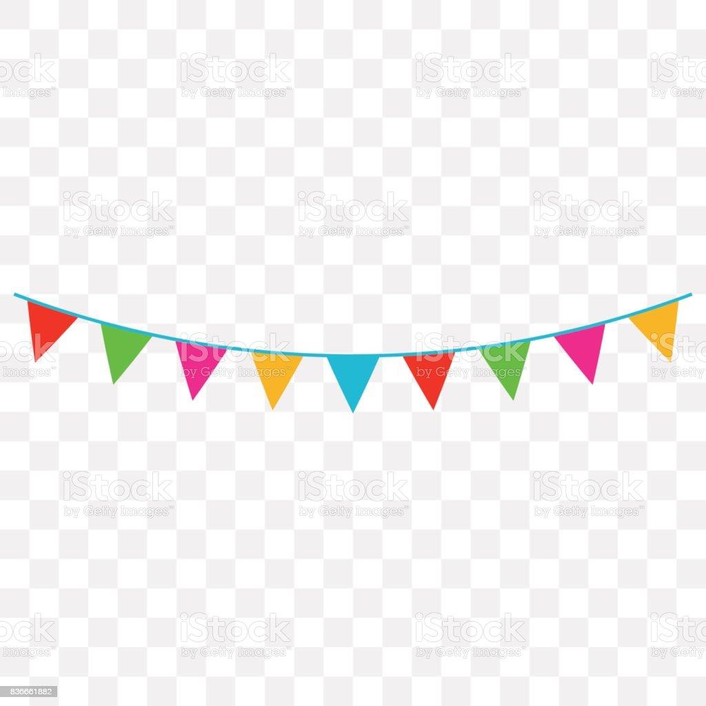 Celebrar banderas - ilustración de arte vectorial
