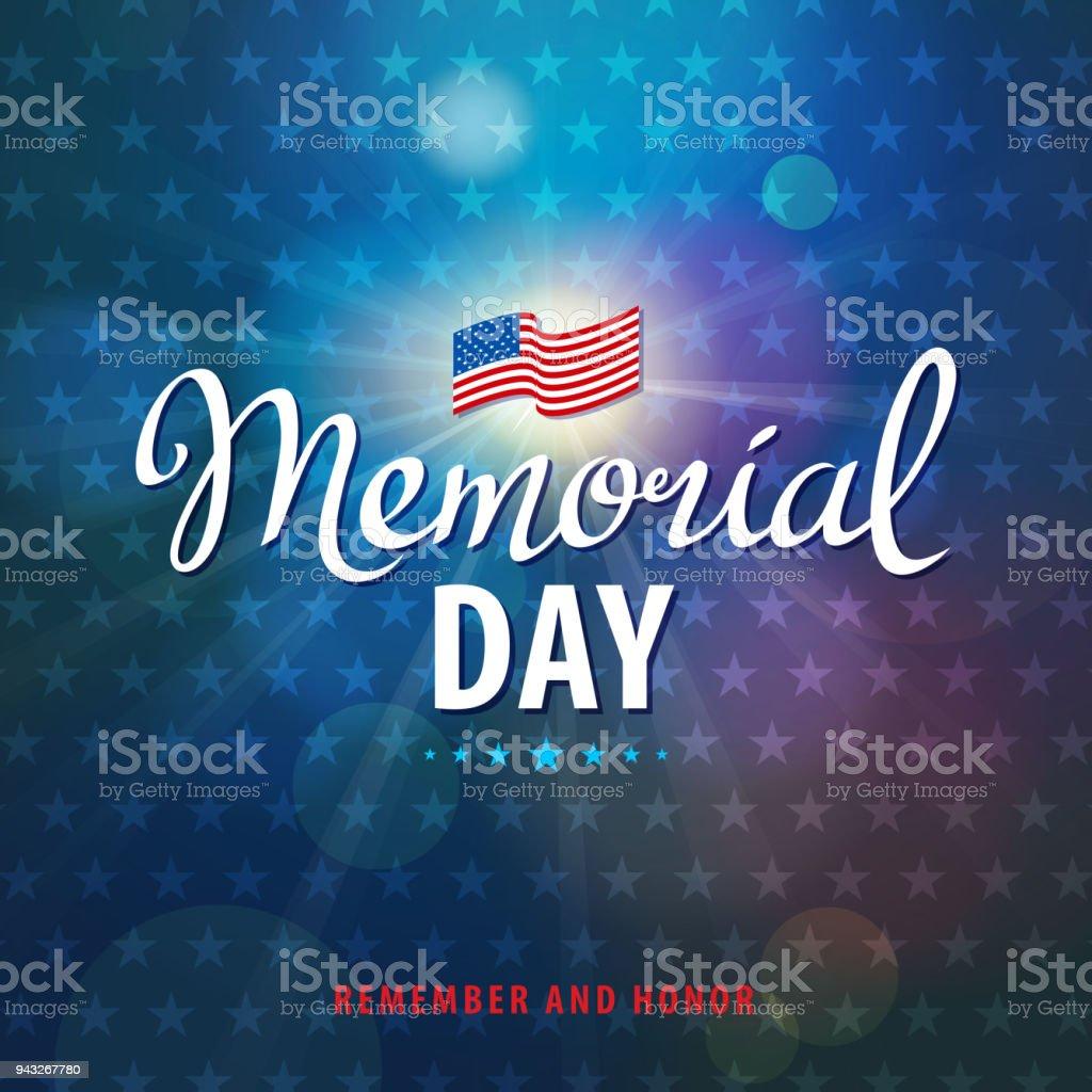 Celebrate Memorial Day vector art illustration