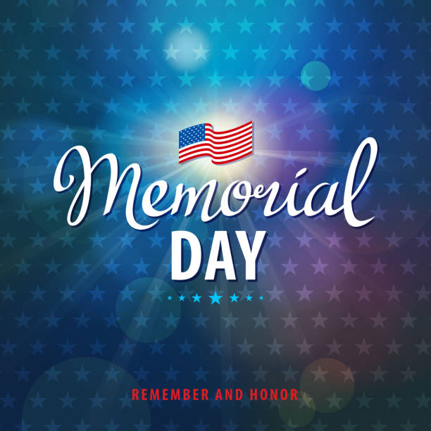 celebrate memorial day - memorial day stock illustrations