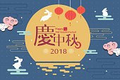 celebrate Mid Autumn Festival in the chinese word