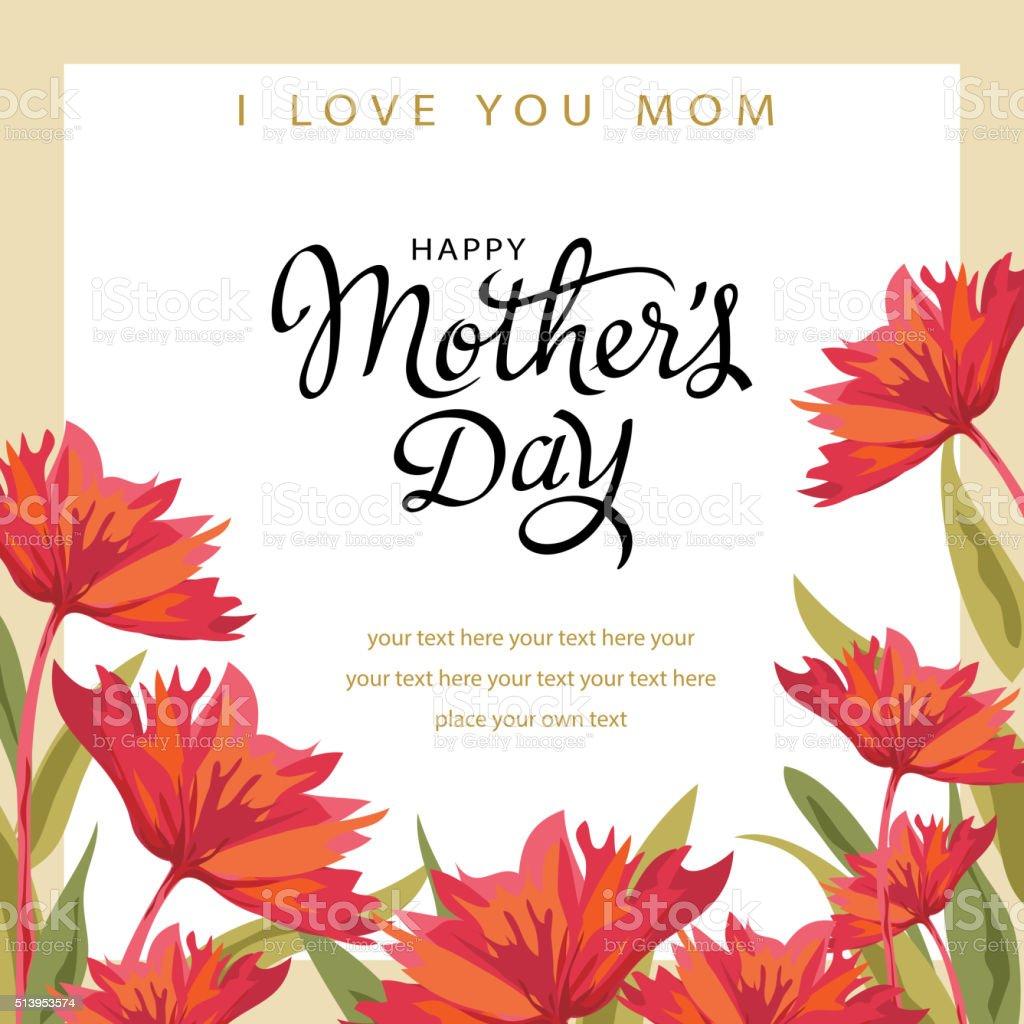 Celebrate Mother's Day vector art illustration
