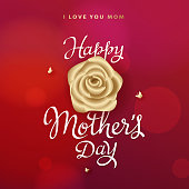 Celebrate the Mother's Day by sending your mom a lovely red greeting card