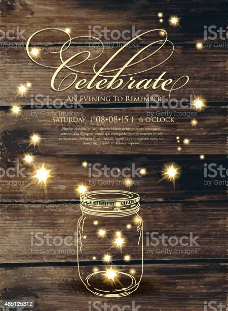 Celebrate script invitation design template with sparks and jar vector id465125312?b=1&k=6&m=465125312&s=612x612&h=svhoxnt309mocsaqck60p3kqni9bjfsewdmfzhtpdry=