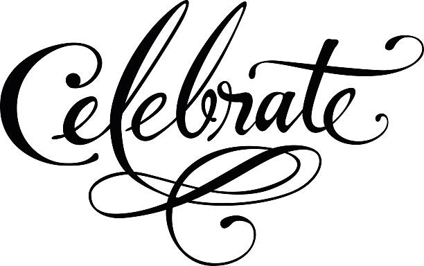 Celebrate Vector version of my own calligraphy single word stock illustrations