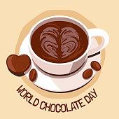 Celebrate world chocolate day with hot chocolate and chocolate blocks