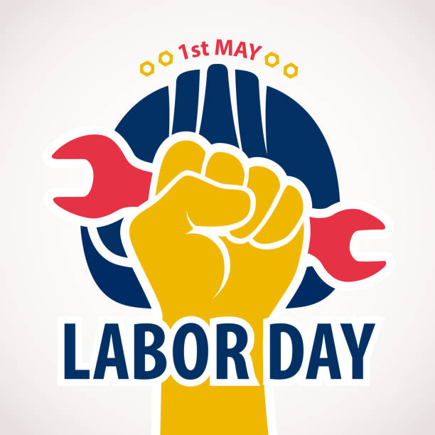 celebrating 1st may labor day - may day stock illustrations, clip art, cartoons, & icons