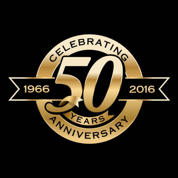 Celebrating 50th Years Anniversary - ilustração de arte em vetor
