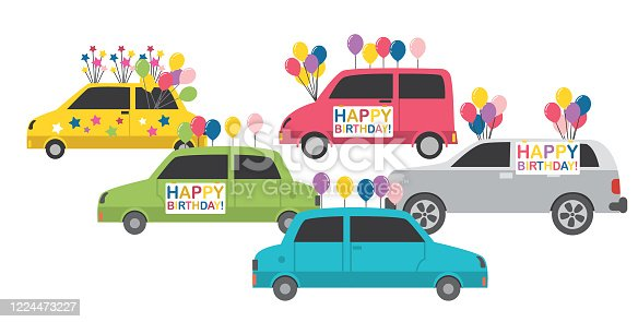 Celebrating events with a car parade during the 'stay at home' order.